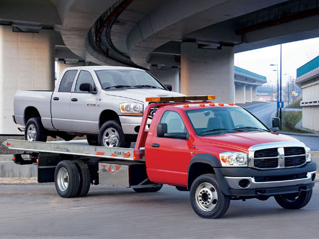 Central Towing flat bed tow truck